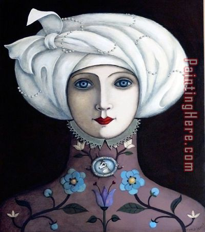 Unknown Artist Pearls in Her Turban Art Painting