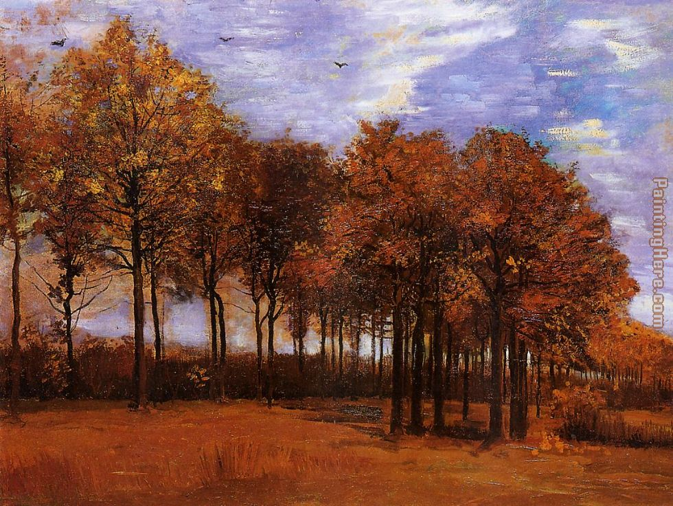 Vincent van Gogh Autumn Landscape Art Painting