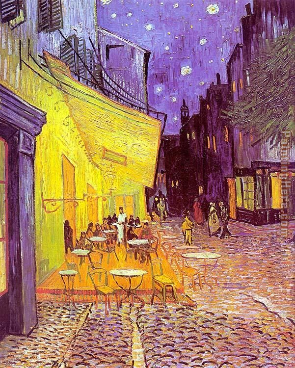 Vincent van Gogh Cafe Terrace at Night Art Painting