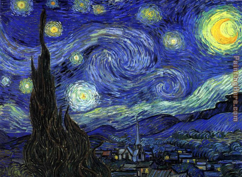 The Starry Night painting - Vincent van Gogh The Starry Night art painting