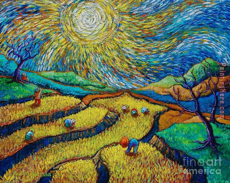 5e9f5111517 Toil Today Dream Tonight painting - Vincent van Gogh Toil Today Dream  Tonight art painting