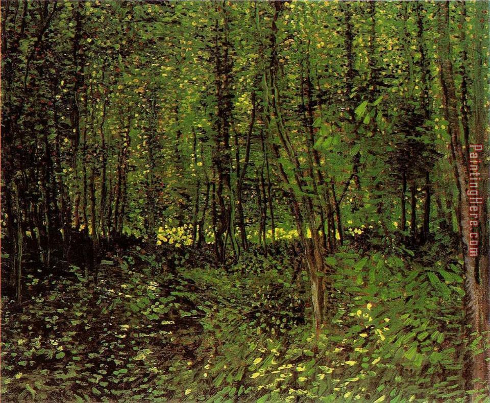 Trees And Undergrowth painting - Vincent van Gogh Trees And Undergrowth art painting