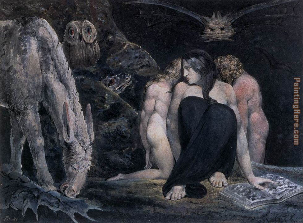 Hecate or the Three Fates painting - William Blake Hecate or the Three Fates art painting