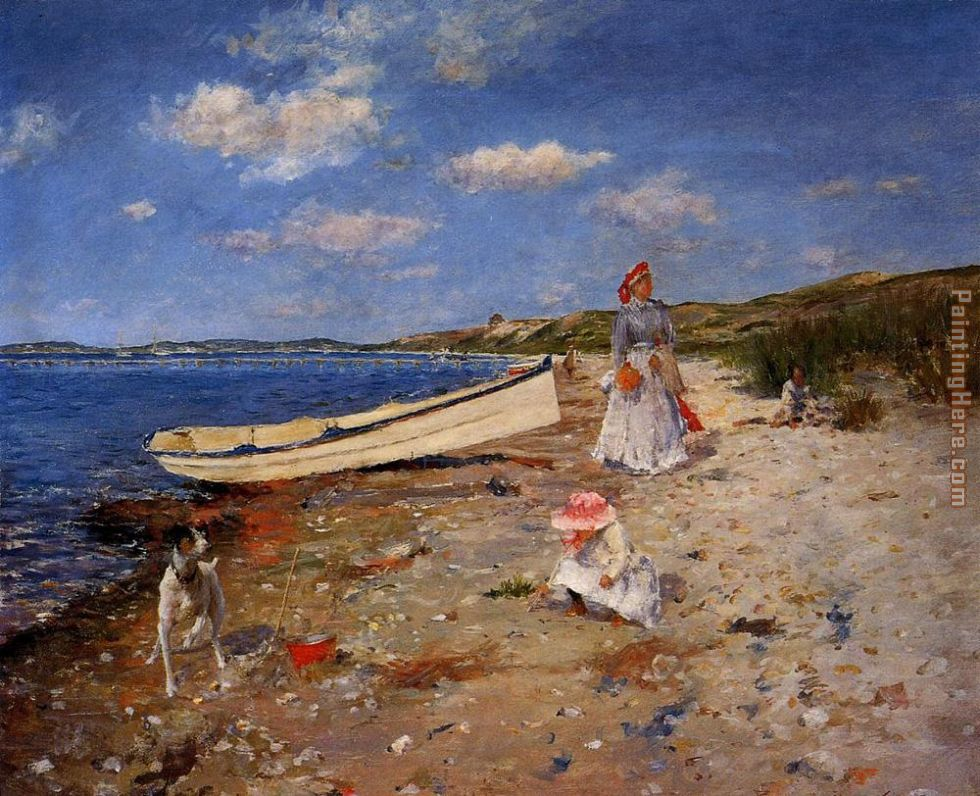 William Merritt Chase A Sunny Day at Shinnecock Bay Art Painting