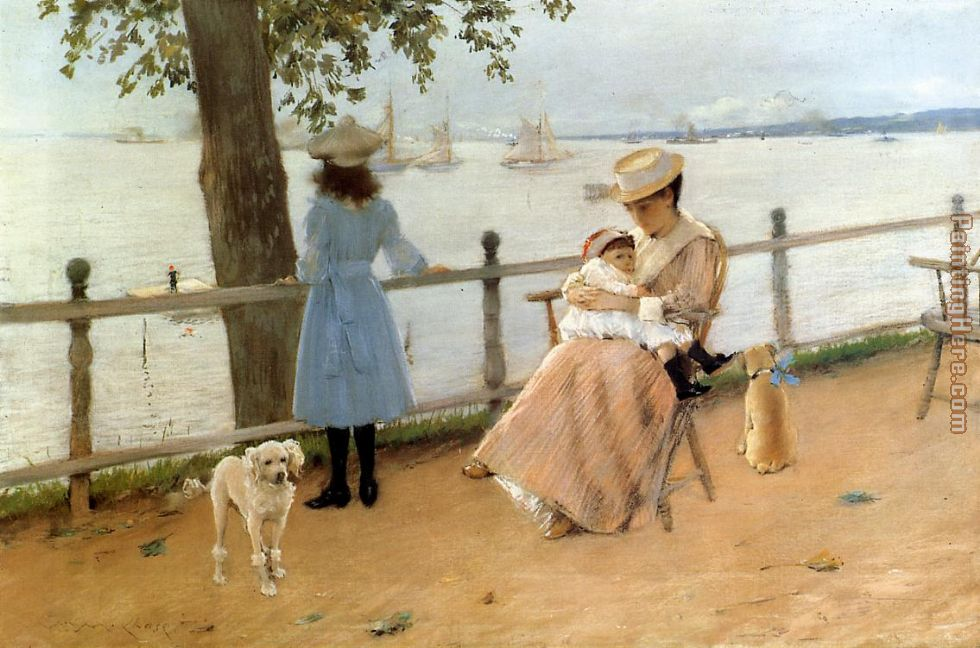 Afternoon by the Sea aka Gravesend Bay painting - William Merritt Chase Afternoon by the Sea aka Gravesend Bay art painting