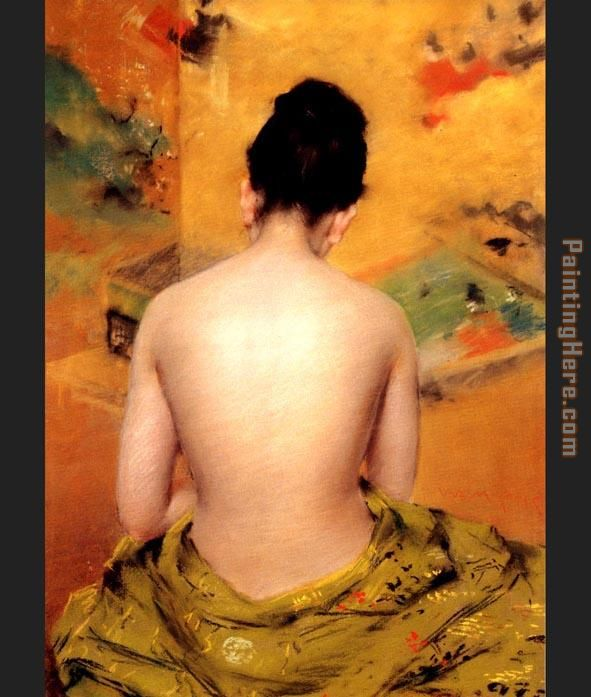 Back of a Nude painting - William Merritt Chase Back of a Nude art painting