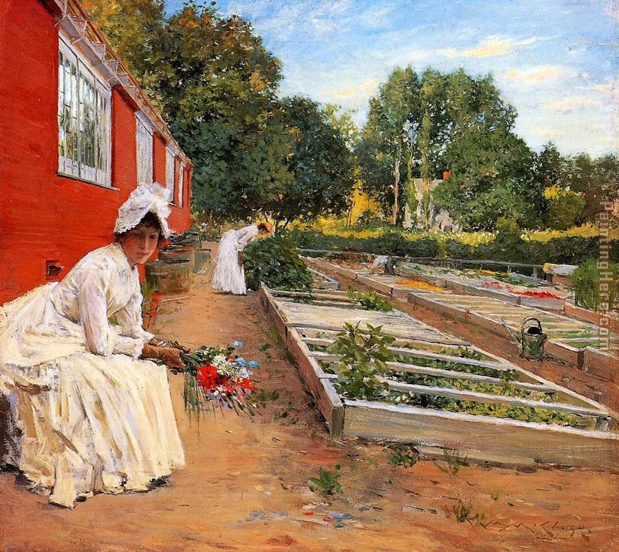 The Nursery painting - William Merritt Chase The Nursery art painting