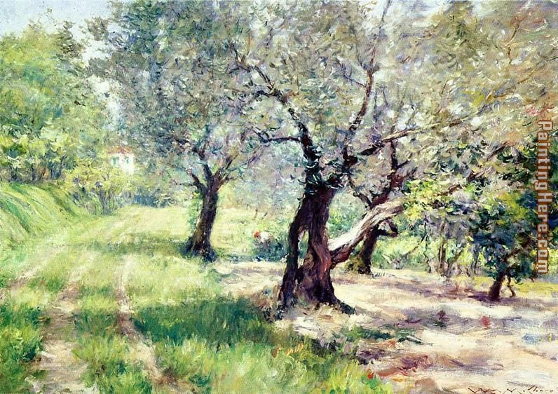 The Olive Grove painting - William Merritt Chase The Olive Grove art painting