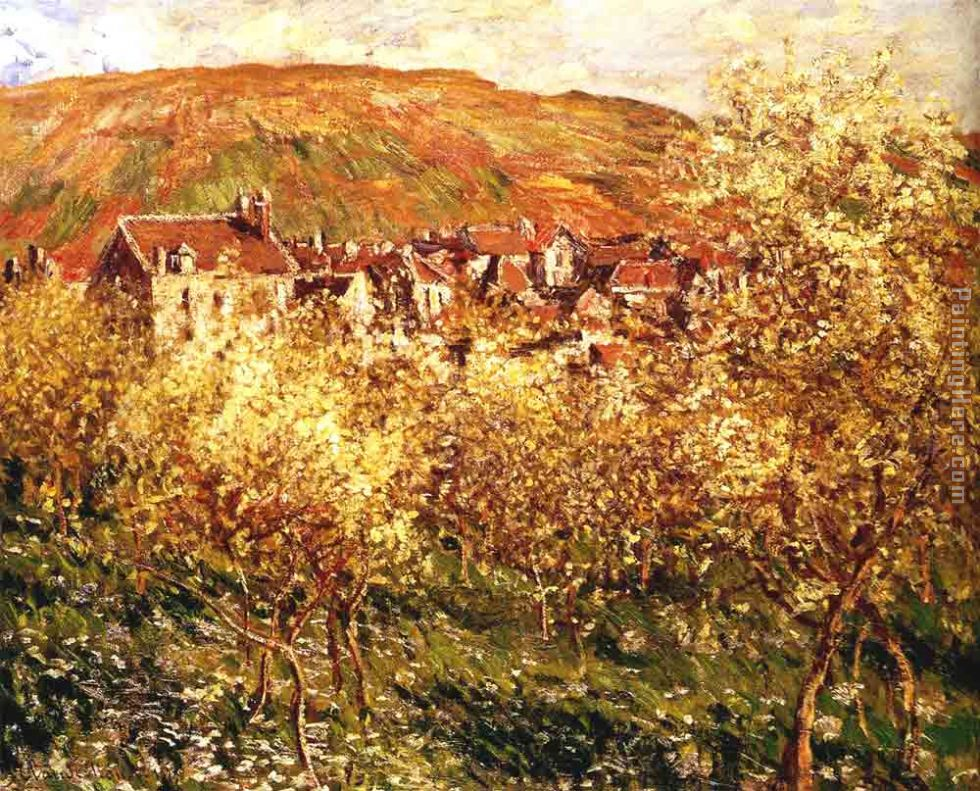 Apple Trees In Blossom painting - Claude Monet Apple Trees In Blossom art painting