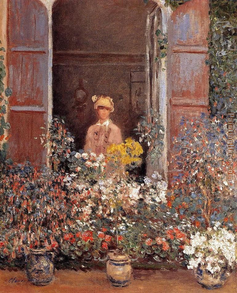 Camille At The Window painting - Claude Monet Camille At The Window art painting