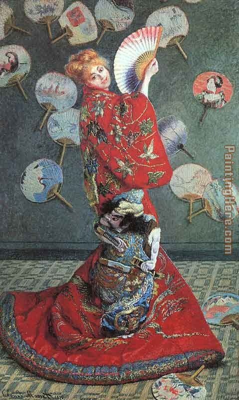 Camille Monet in Japanese Costume painting - Claude Monet Camille Monet in Japanese Costume art painting