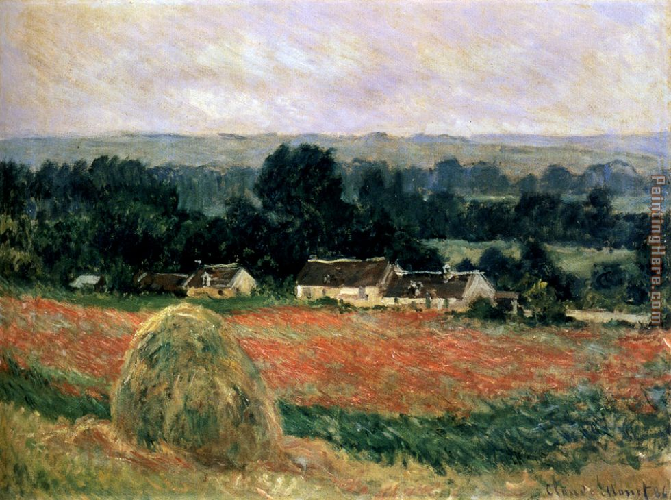 Haystack At Giverny painting - Claude Monet Haystack At Giverny art painting