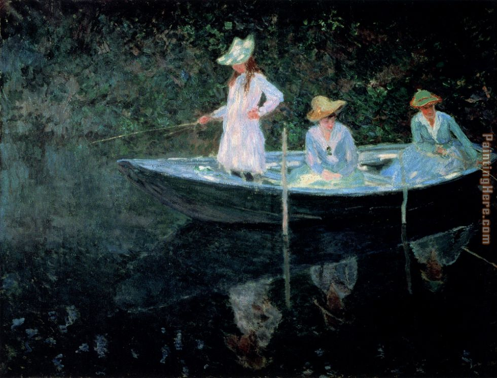 In The Rowing Boat painting - Claude Monet In The Rowing Boat art painting