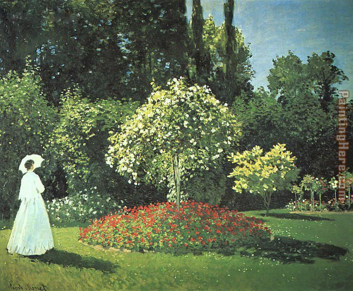 Jeanne-Marguerite Lecadre in the Garden painting - Claude Monet Jeanne-Marguerite Lecadre in the Garden art painting