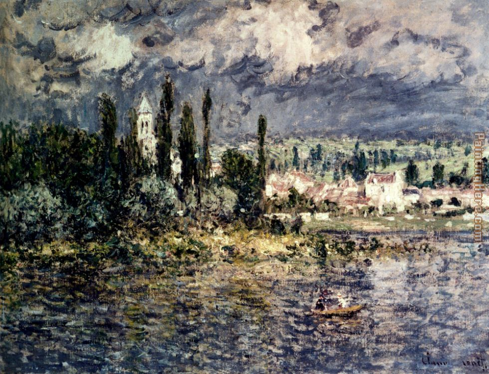 Landscape With Thunderstorm painting - Claude Monet Landscape With Thunderstorm art painting