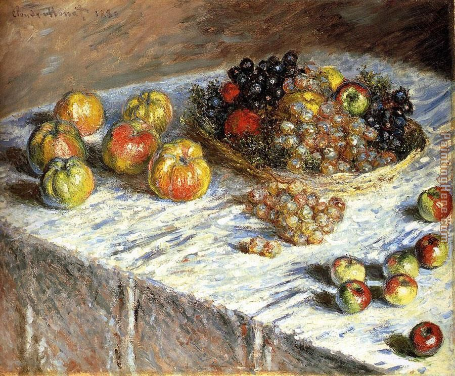 Still Life Apples And Grapes painting - Claude Monet Still Life Apples And Grapes art painting