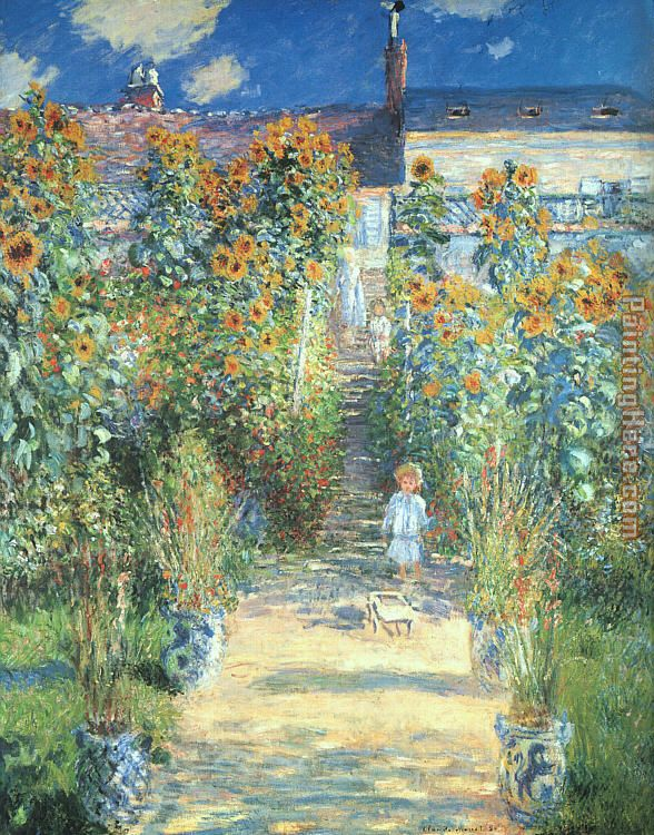 The Artist Garden at Vetheuil painting - Claude Monet The Artist Garden at Vetheuil art painting