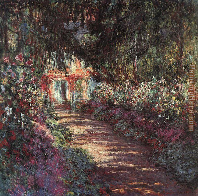 The garden in flower painting - Claude Monet The garden in flower art painting