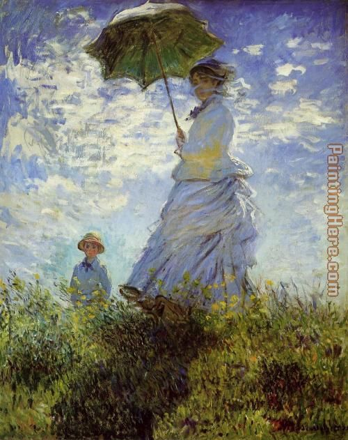 Woman with a Parasol painting - Claude Monet Woman with a Parasol art painting