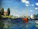 The Red Boats Argenteuil by Claude Monet