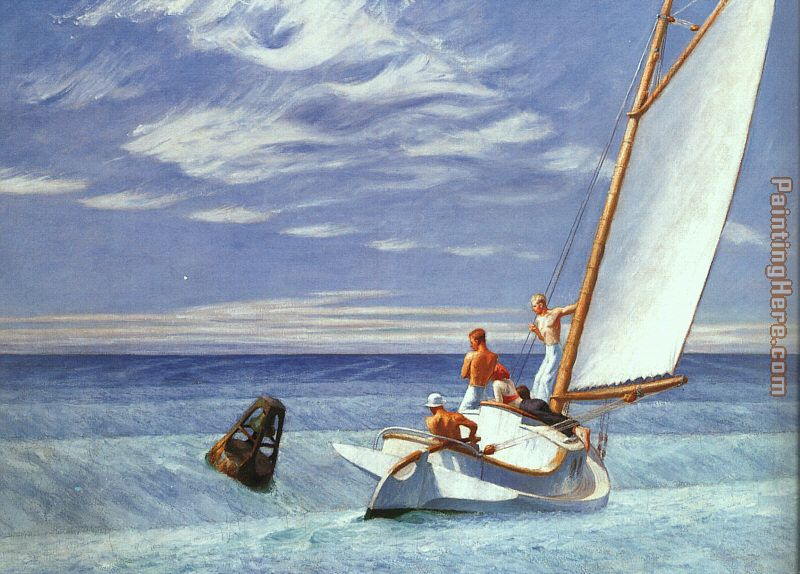 Ground Swell painting - Edward Hopper Ground Swell art painting