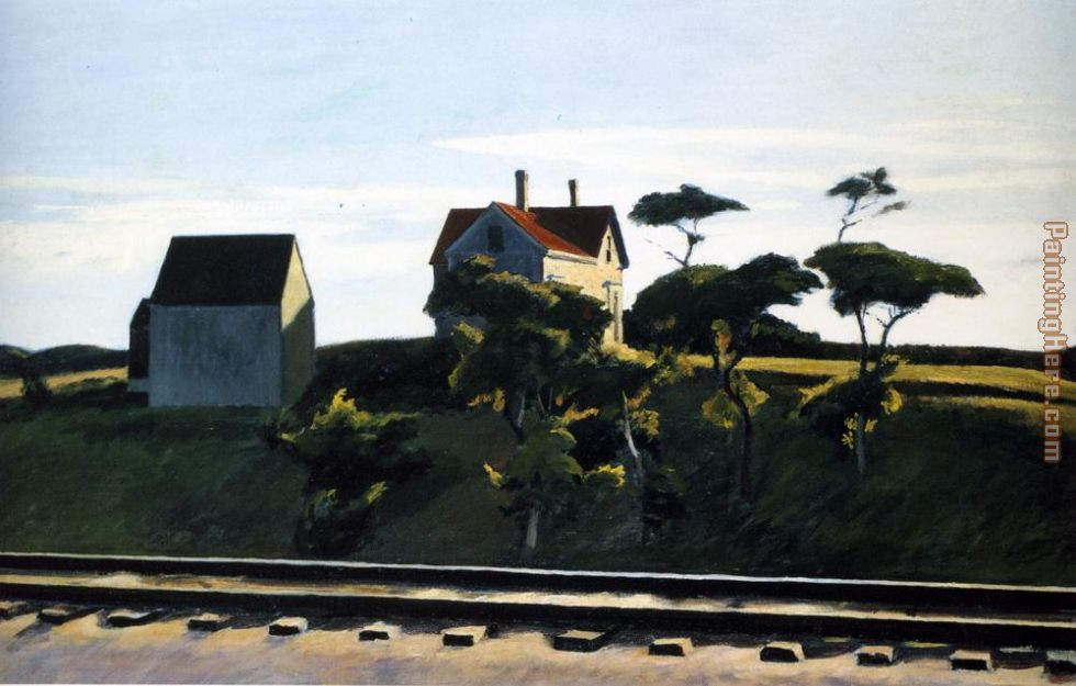 New York New Haven and Hartford painting - Edward Hopper New York New Haven and Hartford art painting