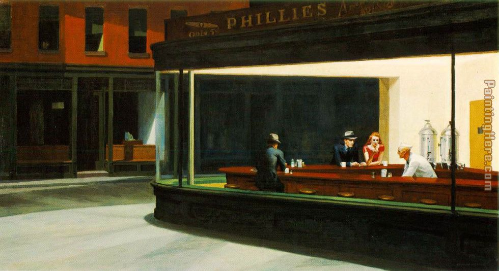 Edward Hopper Nighthawks Art Painting