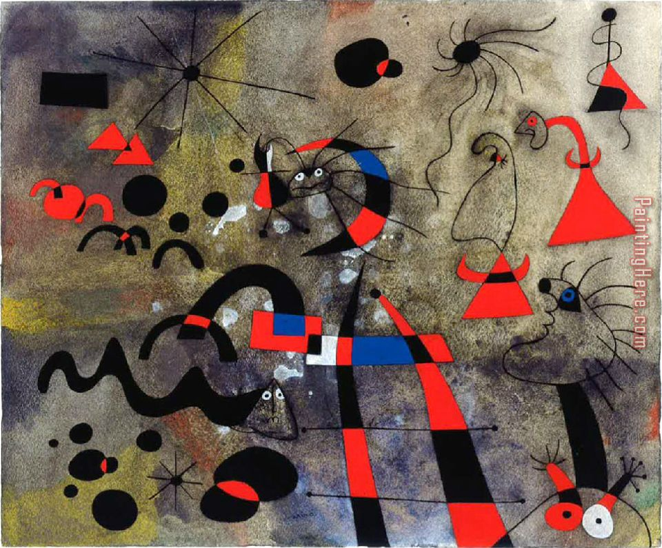 Joan Miro The Escape Ladder Art Painting
