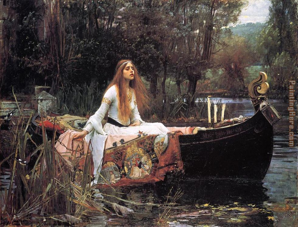John William Waterhouse The Lady of Shalott Art Painting