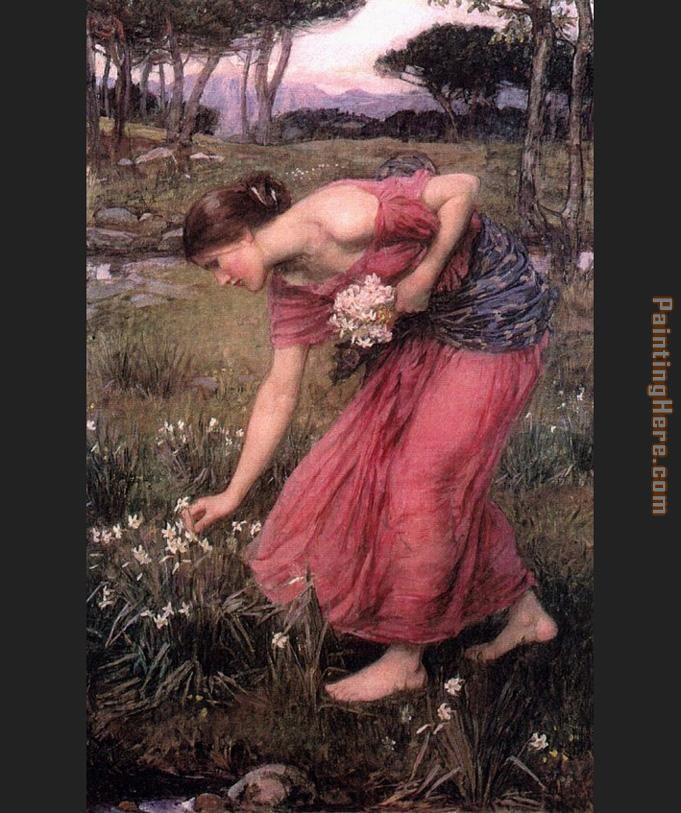 John William Waterhouse Waterhouse Narcissus Art Painting