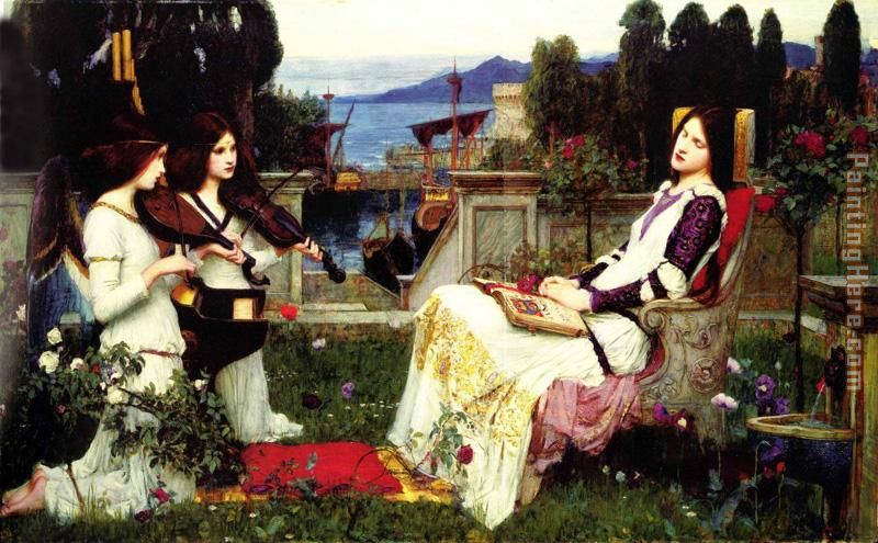 waterhouse Saint Cecilia painting - John William Waterhouse waterhouse Saint Cecilia art painting