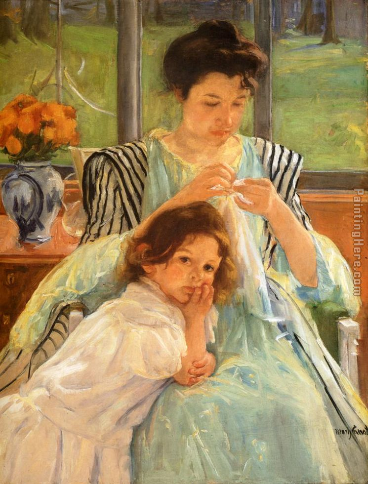 Young Mother Sewing Mary Cassatt