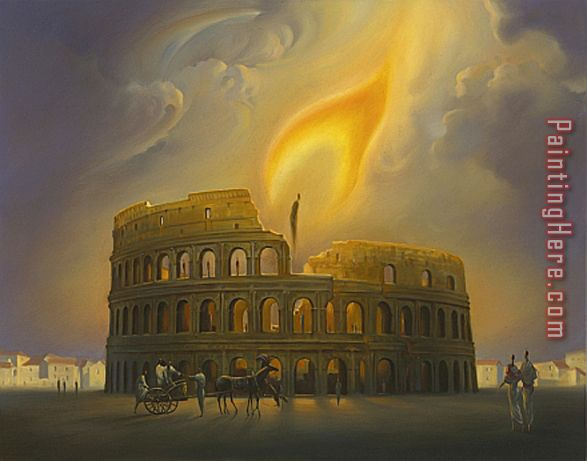 Theatre of Nero painting - Vladimir Kush Theatre of Nero art painting