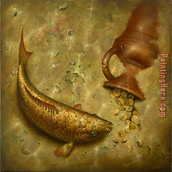 Vladimir Kush What The Fish Was Silent About Art Painting